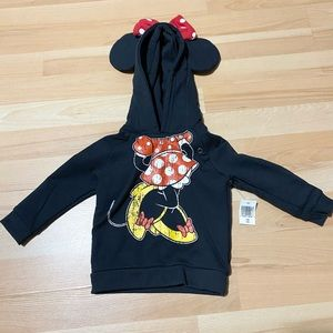 Disney Parks Minnie Mouse Hoodie size 12M